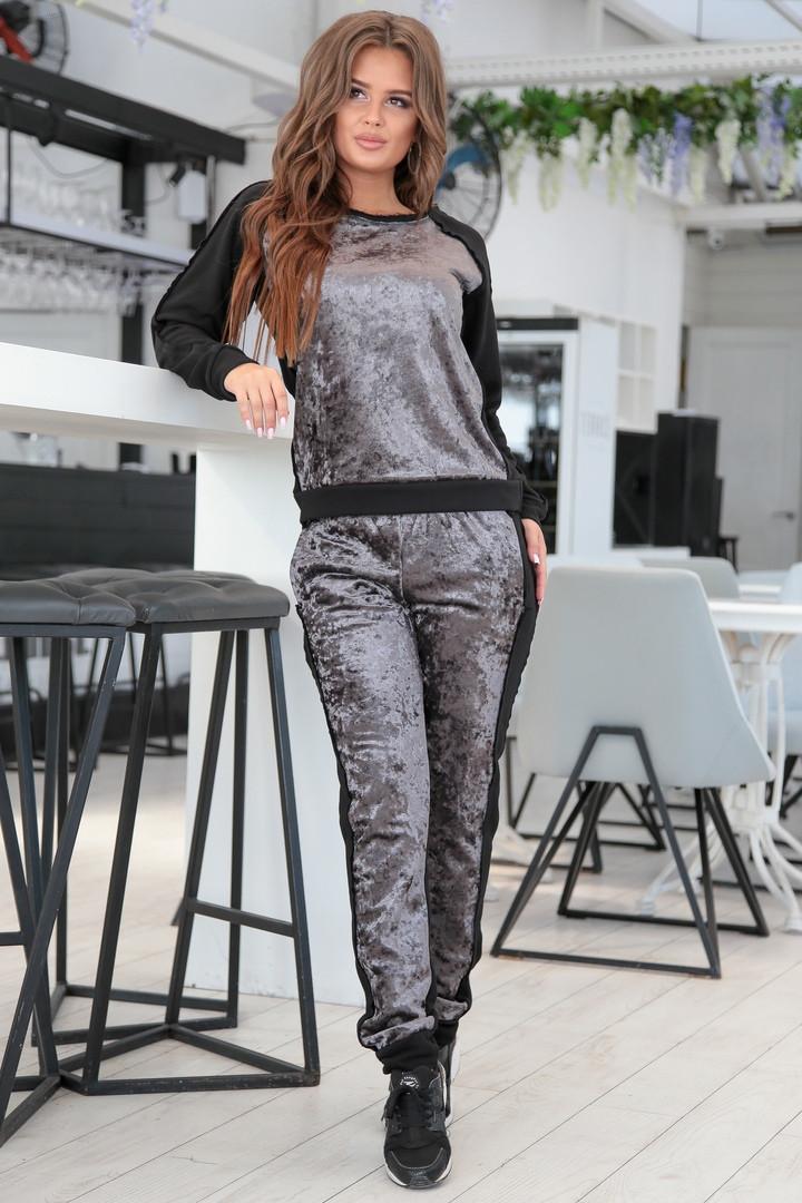 d4fca4d5f96 Красивый велюровый спортивный костюм NA-02 - Joanna - интернет магазин  одежды в Одессе