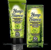 """Крем для загара в солярии """"Hemp Bianca"""" с маслом семян конопли и экстрактом алоэ, туба 125 ml"""