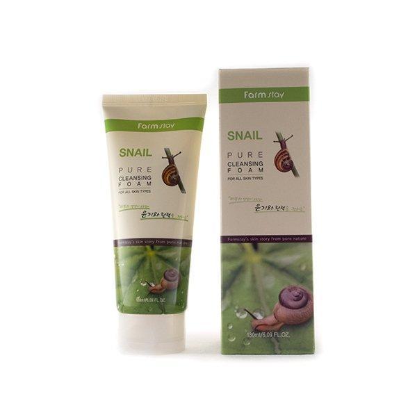 Очищающая пенка с экстрактом улитки FarmStay Snail Pure Cleansing Foam, 180ml
