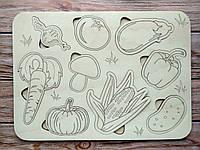 """Деревянная игрушка, сортер """"Овощи"""" 21х29 см"""