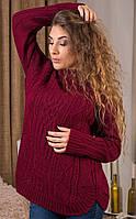 Красивый вязаный женский свитер SML-1911182