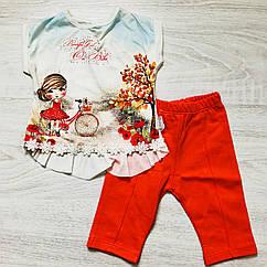 Майка и шорты для новорожденных.(6-9-18 мес.)