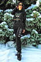 Черный спортивный костюм женский VCL-32