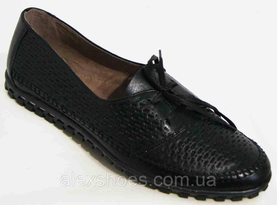 Туфли женские большого размера из натуральной кожи от производителя модель В4065-19