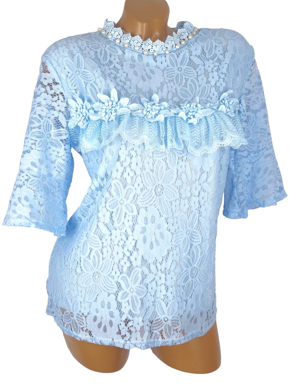 Кружевная женская блуза (в расцветках)