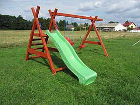 Горка для детской площадки 2,2 м KBT (Зеленая), фото 3