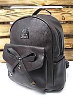 db1f725016a5 Киев. Женский рюкзак коричневого цвета, один отдел, дополнительный карман с  бантиком