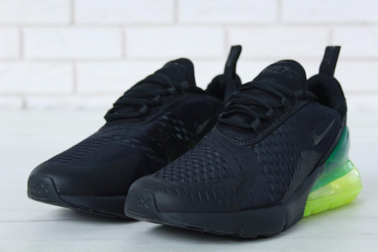 Кроссовки мужские в стиле Nike Air Max 270 Black (Реплика ААА+)