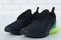 Кроссовки мужские в стиле Nike Air Max 270 Black (Реплика ААА+), фото 1