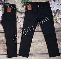 Штаны,джинсы на флисе для мальчика 7-11 лет (черные)(розн) пр.Турция