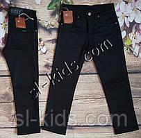 Штаны,джинсы на флисе для мальчика 9-11 лет (черные)(розн) пр.Турция