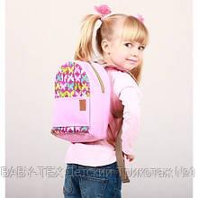Детский рюкзак непромокаемый Бабочки розовый