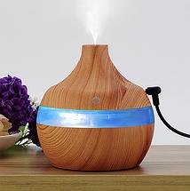 Увлажнитель воздуха, арома лампа с LED подсветкой, ультразвуковой очиститель, диффузор, фото 2