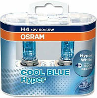 Автомобільна галогенова лампа Osram Cool Blue H4 64193CBHCB, 2 шт. / Автомобильная галогенная лампа Осрам H4