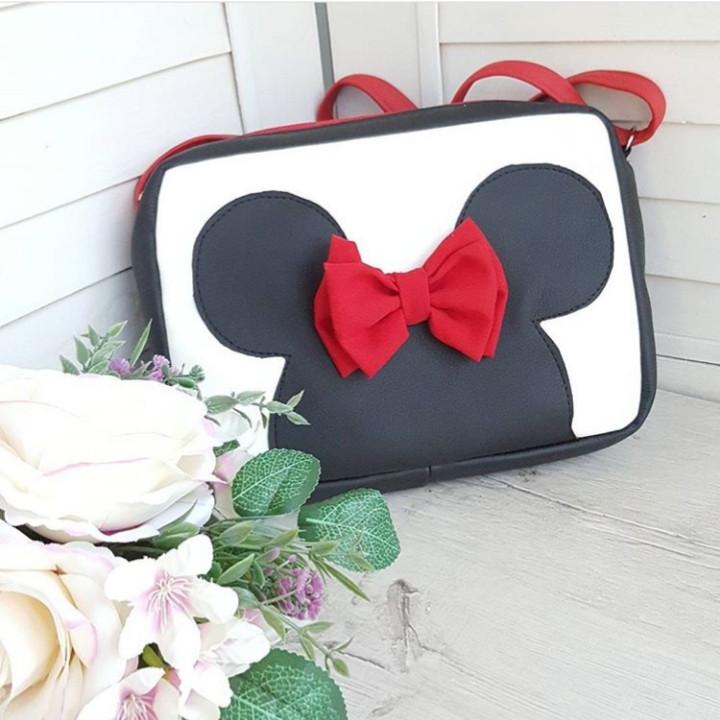 Стильная женская сумка Микки черная