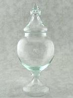 Конфетница с крышкой Н690мм, диам 290мм стекло Бережаны 22032