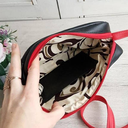 Стильная женская сумка Микки черная, фото 2