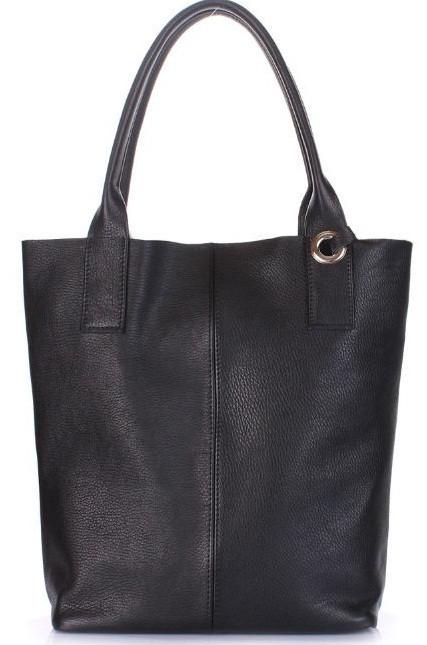 Женская сумка POOLPARTY podium-black кожа черная
