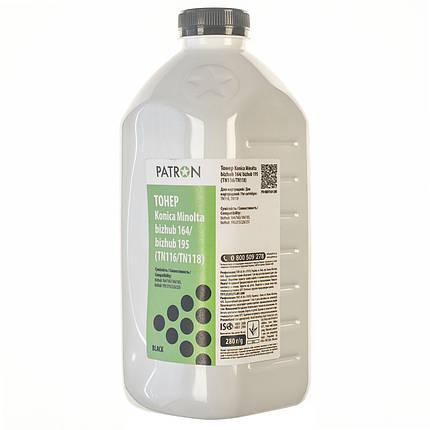 Тонер Konica Minolta TN-116, Black, Bizhub 164/165/184/185, бутыль, 280 г, Patron (T-PN-MBH164-280), фото 2