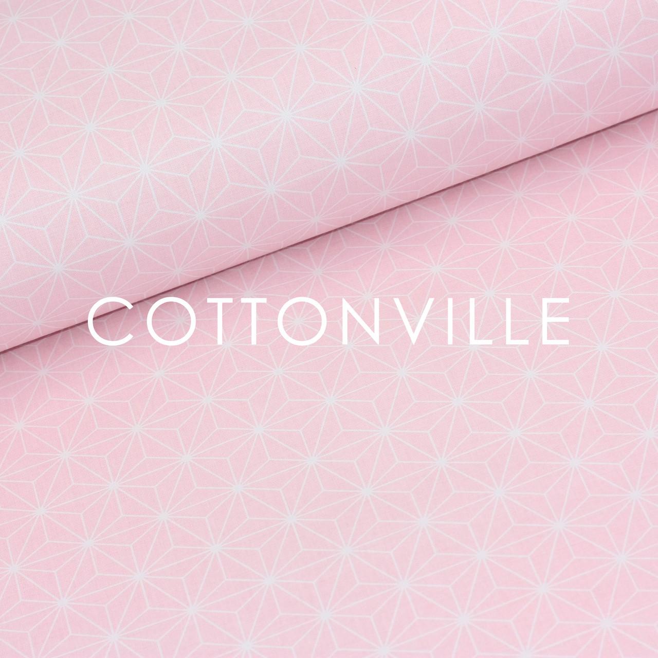 ✁ Отрезы бязи Кристаллы на розовом