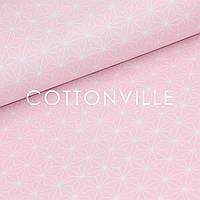 ✁ Відрізи тканини Кристали на рожевому