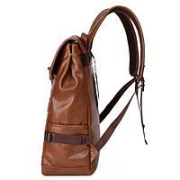 Городской мужской рюкзак городской,коричневый, фото 3