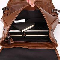 Городской мужской рюкзак городской,коричневый, фото 6