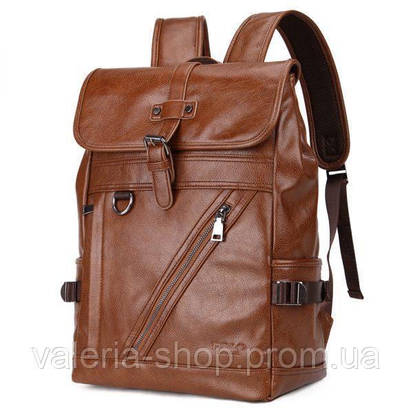 Городской мужской рюкзак городской,коричневый