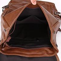 Городской мужской рюкзак городской,коричневый, фото 7