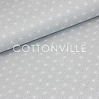✁ Відрізи тканини Кристали на сірому