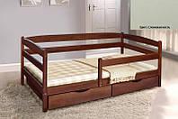 Детская односпальная кровать Ева с ящиками + планка 80х190, цвет слоновая кость, фото 1
