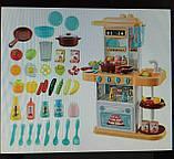 Ігрова дитяча кухня 889-154 рожева, вода , світло, звук, 38 предмета, фото 3