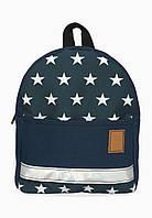 Детский рюкзак непромокаемый Звезды синий, фото 1