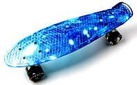 Скейт ПенниБорд рисунок Космос. Светящиеся колеса +40 грн, фото 1