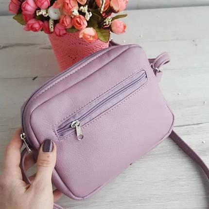 Сумка женская с цветами фиолетовая, фото 2