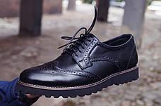 Мужские натуральные кожаные броги\туфли Onyx Leather, фото 3