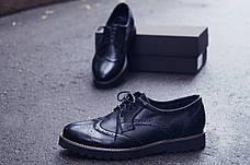 Мужские натуральные кожаные броги\туфли Onyx Leather, фото 2