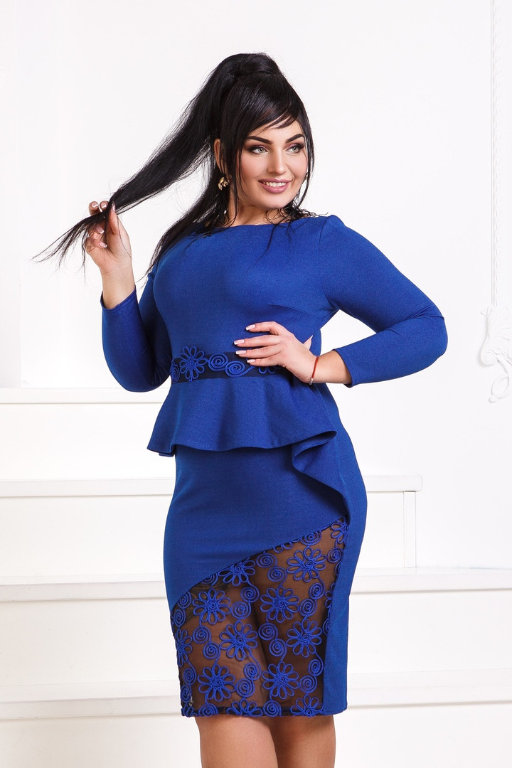 442d22e86c5f698 Вечернее платье с баской DG-p411811, цена 753 грн., купить в Одессе ...