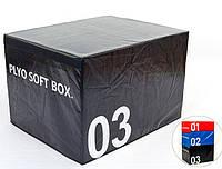 Бокс пліометричнмй м'який FI-5334-3 SOFT PLYOMETRIC BOXES, фото 1