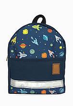 Детский рюкзак непромокаемый Космос синий