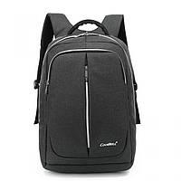 Городской мужской рюкзак для ноутбука ,USB — выход,черый,серый, фото 2
