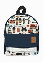 Детский рюкзак непромокаемый Лондон синий
