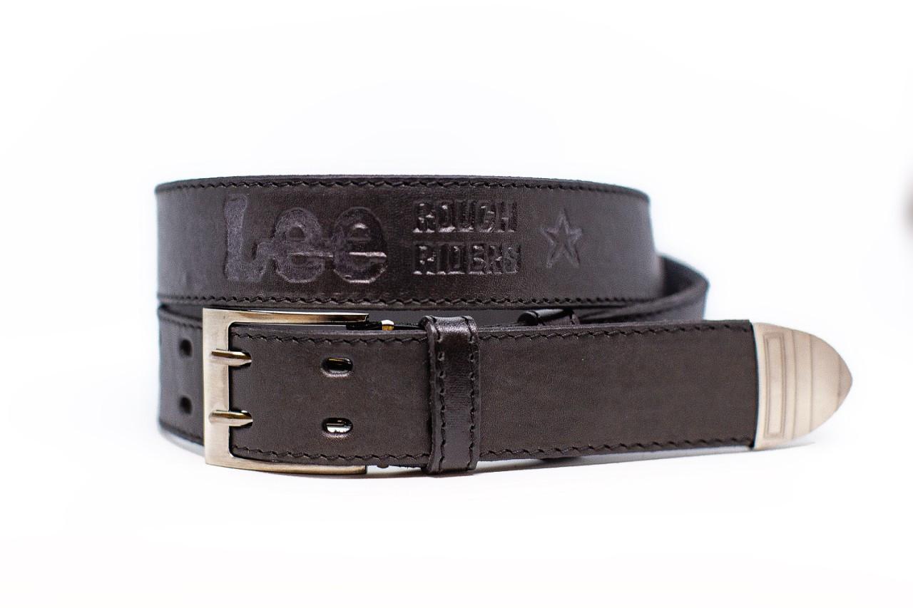 Ремень джинсовой Lee Ширина 40 мм Цвет черный ,кожаный