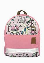 Детский рюкзак непромокаемый Принцессы розовый