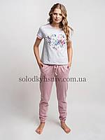 Жіноча Піжама ELLEN штани+футболка Квітуче Серце 237/001
