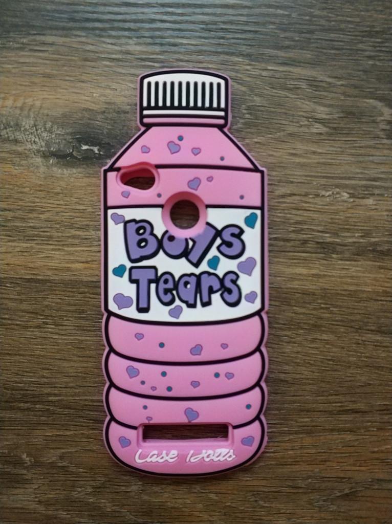 Объемный 3d силиконовый чехол для Xiaomi Redmi 5a Бутылка Boys Tears розовая