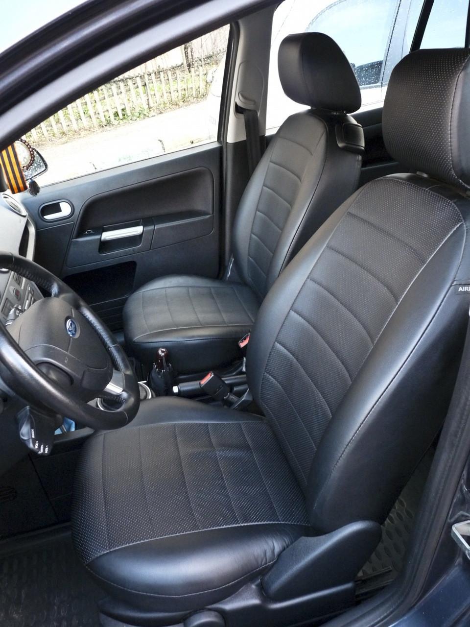 Чехлы на сиденья Ауди А4 Б6 (Audi A4 B6) (универсальные, экокожа Аригон)