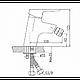 Смеситель для биде с донным клапаном  Koller Pool Kvadro KR0300, фото 2