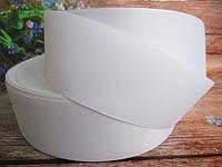 Репсова стрічка однотонна, колір БІЛИЙ, 5 див., фото 1