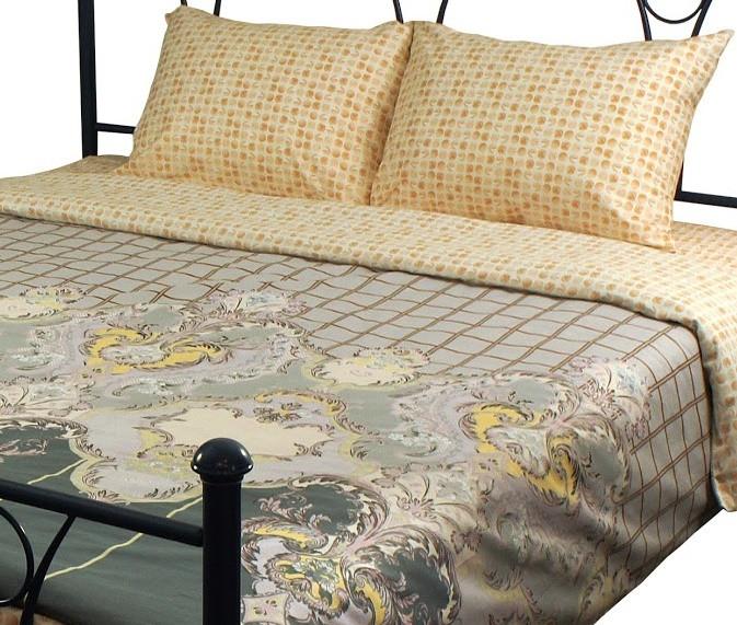 Комплект постельного белья полуторный РУНО 143х215 Сатин плотность 125гр/м.кв (1.137А_S28-4)